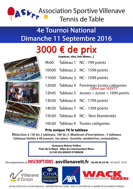 Tournoi National B Villenave D Ornon 33 11 Septembre 2016
